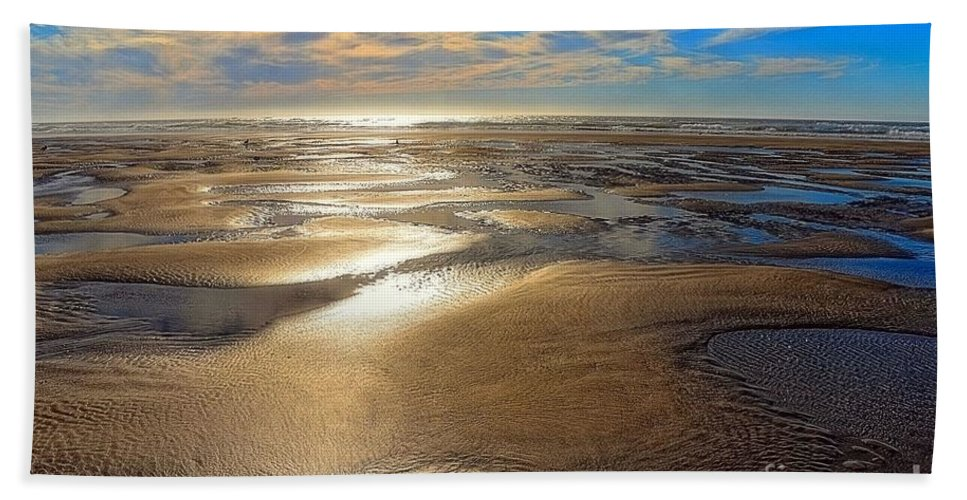 Beach Bath Sheet featuring the photograph Shimmering Sands by Lauren Leigh Hunter Fine Art Photography