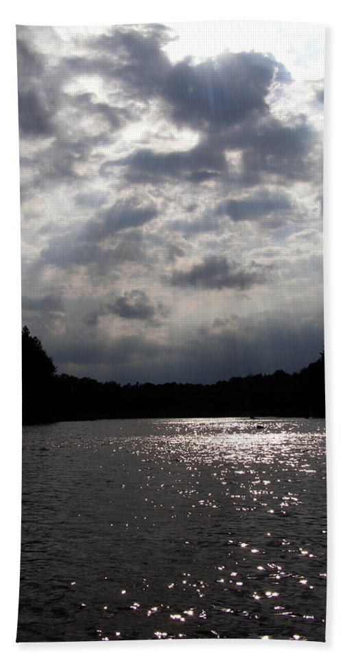 Clouds Hand Towel featuring the photograph Shine On by Angie Rea
