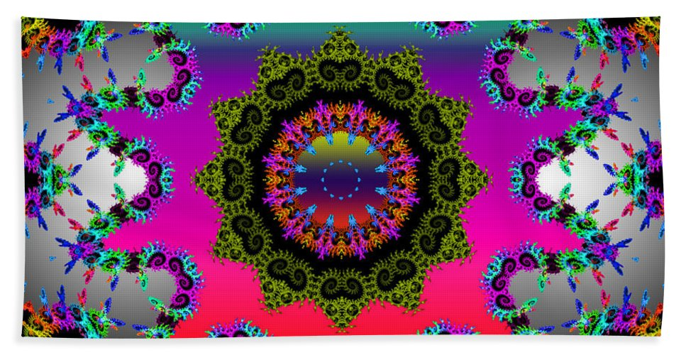 Flower Bath Sheet featuring the mixed media Shine On by Robert Orinski