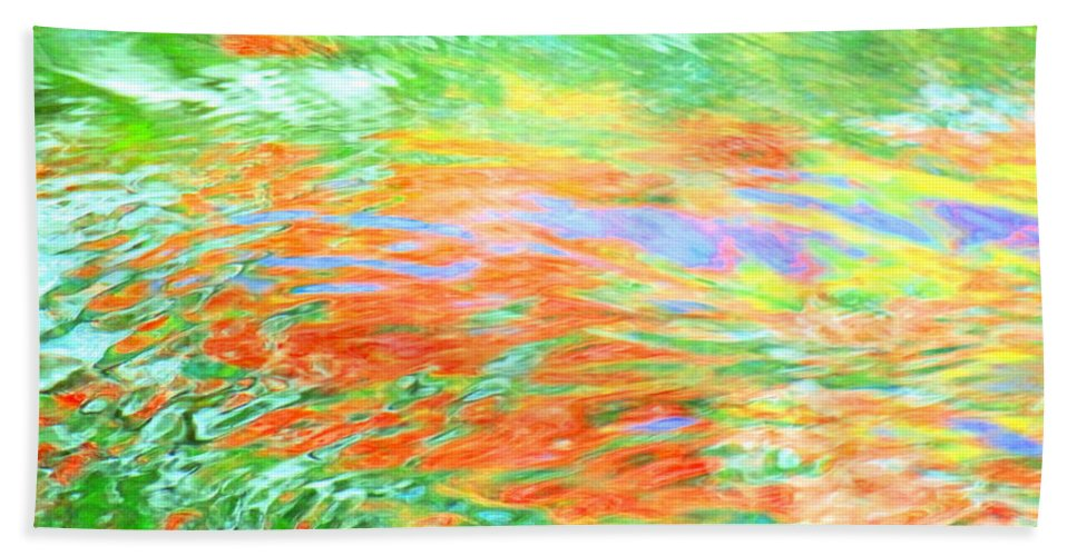 Abstract Hand Towel featuring the photograph Shine Through by Sybil Staples