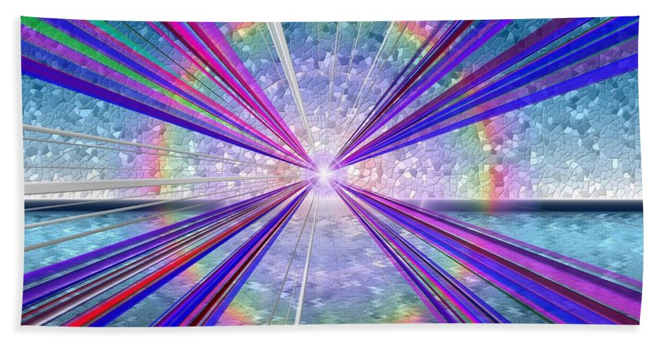 Fine Art Hand Towel featuring the digital art Shining Bright by Tim Allen