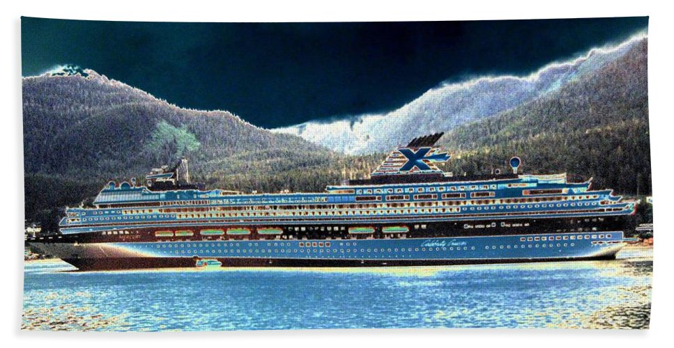 Juneau Hand Towel featuring the digital art Shipshape 10 by Will Borden