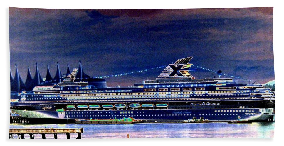 Mercury Hand Towel featuring the digital art Shipshape 5 by Will Borden