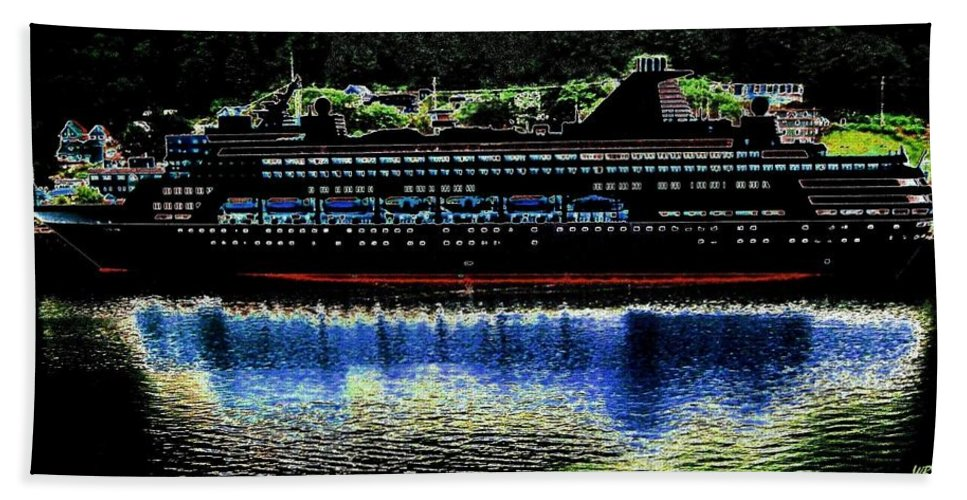 Juneau Bath Sheet featuring the digital art Shipshape 8 by Will Borden