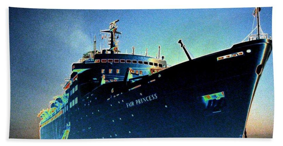 Puerto Vallarta Bath Sheet featuring the digital art Shipshape 9 by Will Borden