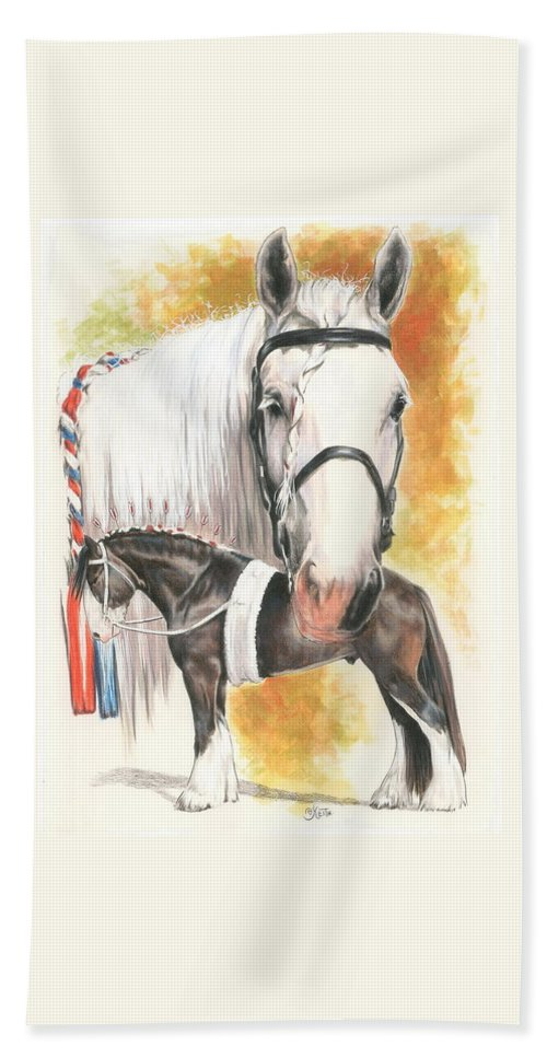 Shire Hand Towel featuring the mixed media Shire by Barbara Keith