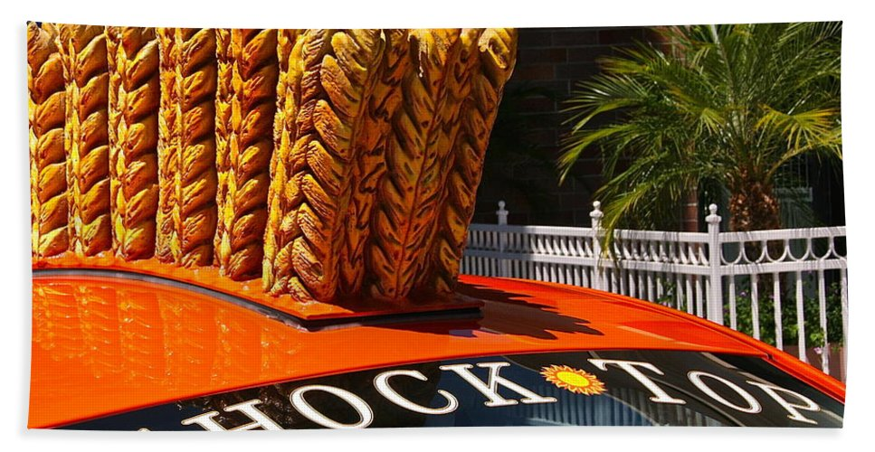 Photograph Hand Towel featuring the photograph Shock Top by Gwyn Newcombe