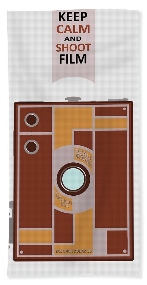 Camera Hand Towel featuring the digital art Shoot Film by Mal Bray