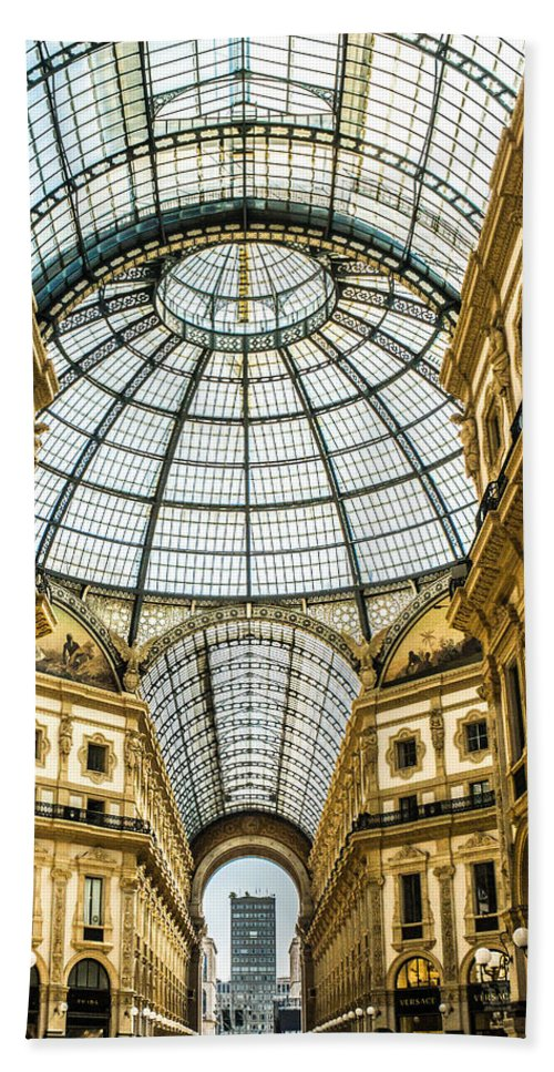 Galleria Bath Sheet featuring the photograph Shopping Anyone? Galleria, Milan by Lisa Lemmons-Powers