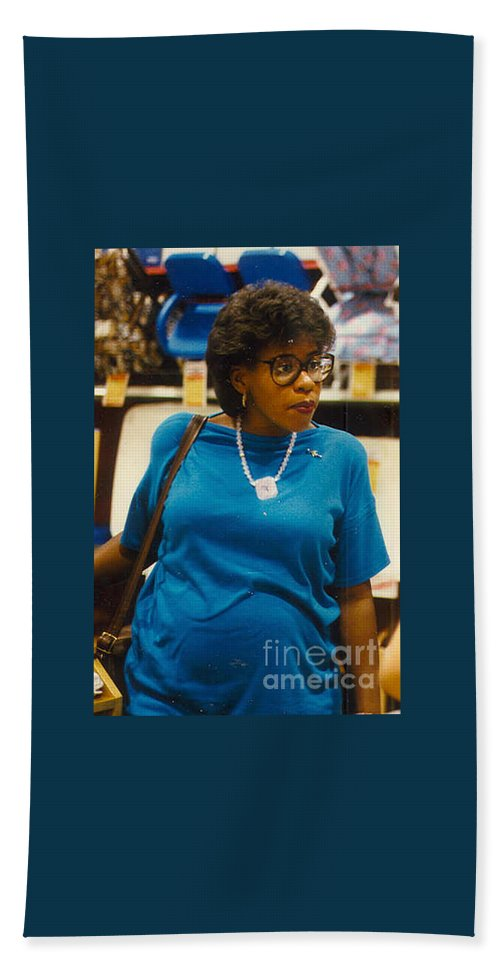 Angela Hand Towel featuring the photograph Shopping For Baby Joshua by Angela L Walker