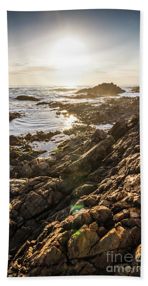 Water Bath Towel featuring the photograph Shore Rays by Jorgo Photography - Wall Art Gallery