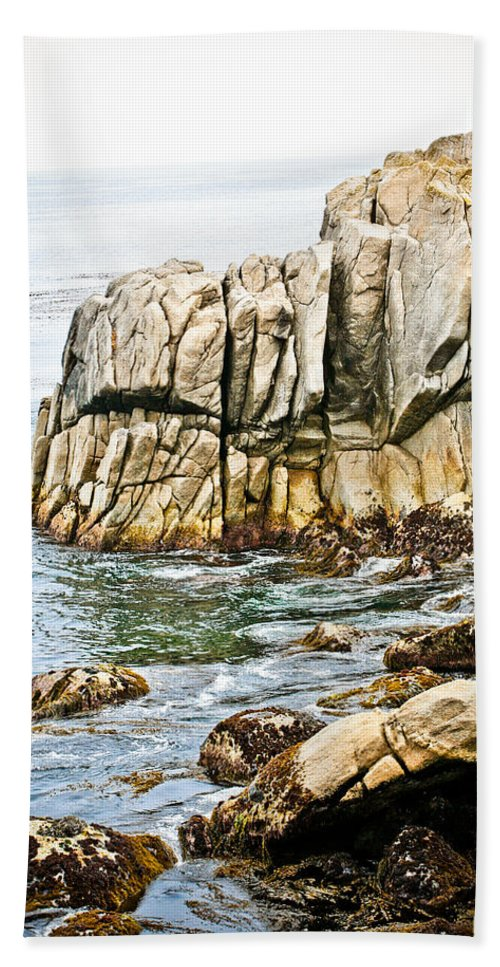 Pebble Beach Bath Sheet featuring the photograph Shores Of Pebble Beach by Marilyn Hunt
