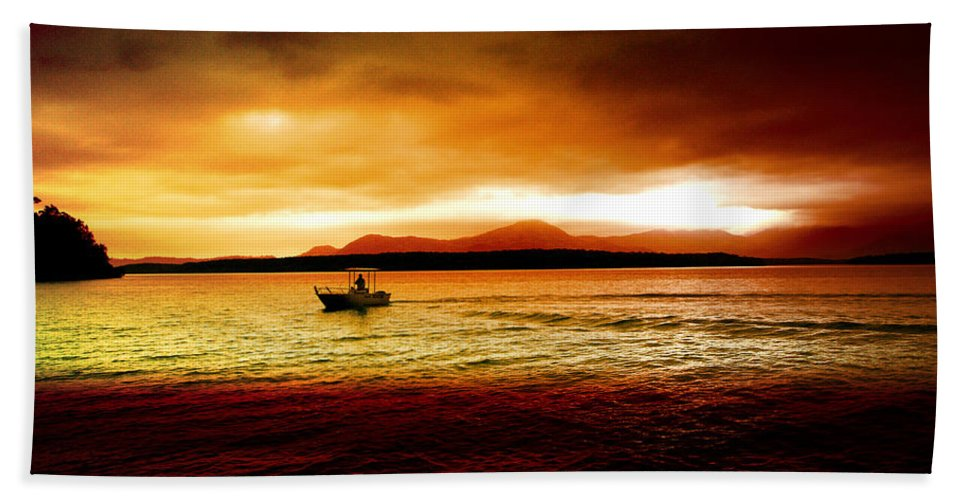 Landscape Bath Sheet featuring the photograph Shores Of The Soul by Holly Kempe