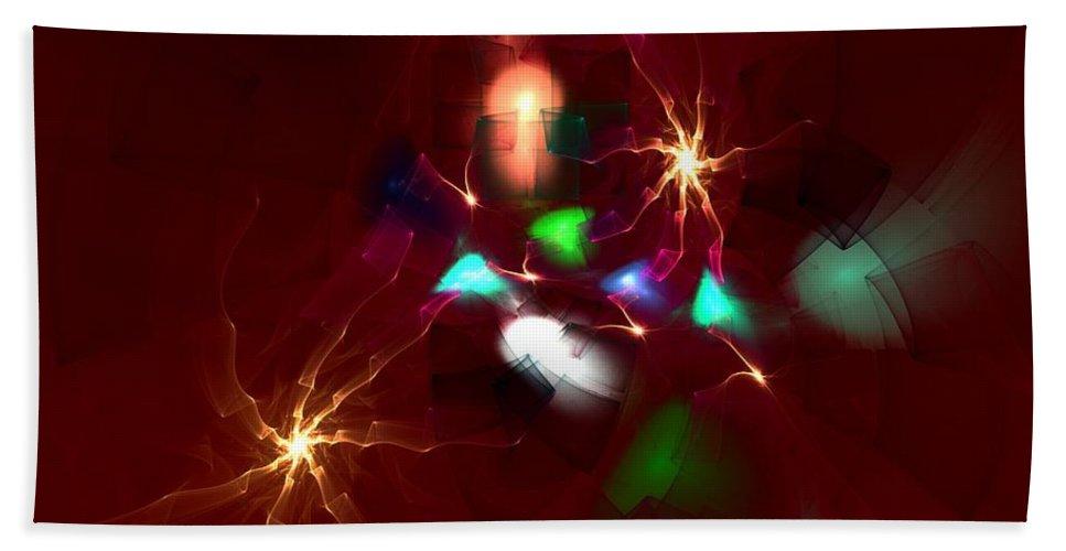 Digital Painting Hand Towel featuring the digital art Short Circut by David Lane