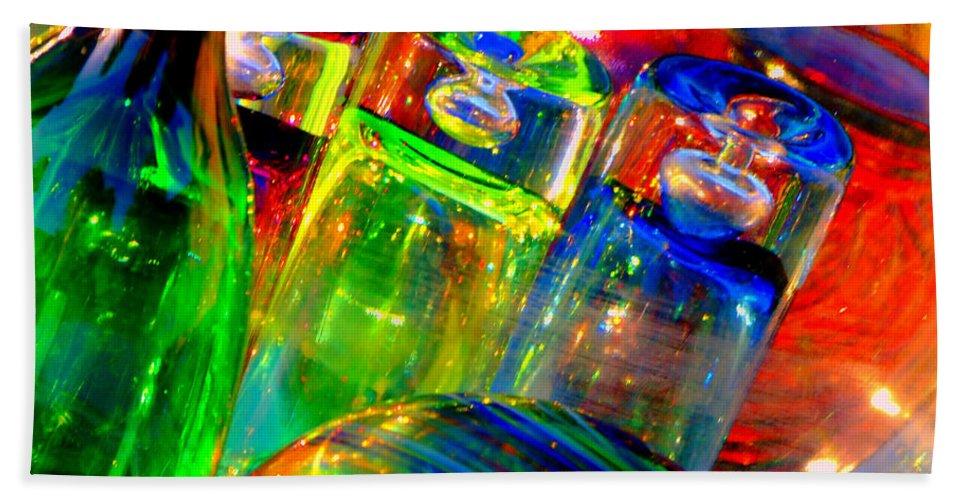 Glass Bath Sheet featuring the photograph Shot Glass by Donna Blackhall