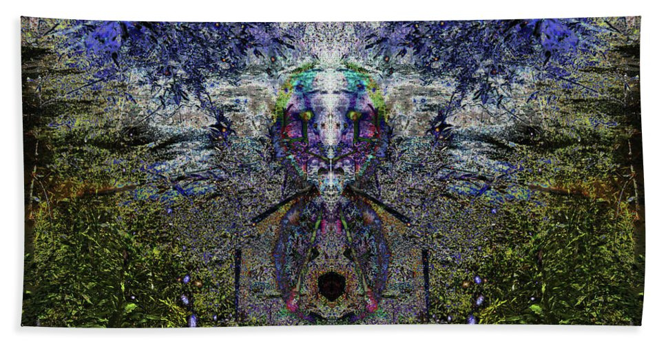 Overgrowth Hand Towel featuring the digital art Shrubboth by Revantide Afterburner