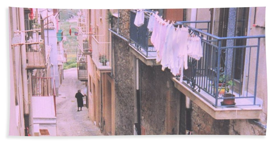 Sicily Bath Towel featuring the photograph Sicily by Ian MacDonald