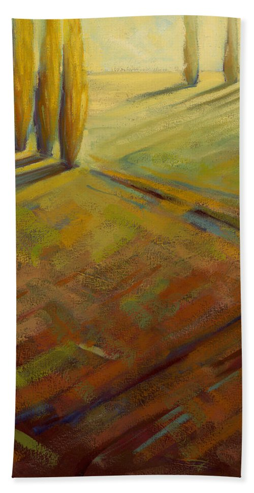 Landscape Bath Sheet featuring the painting Sienna by Konnie Kim