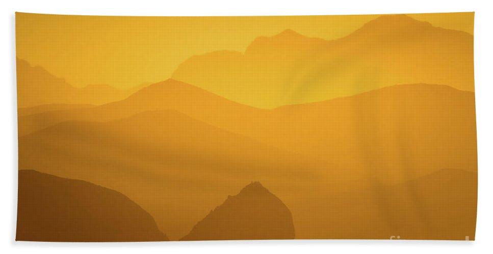 Azamara Bath Sheet featuring the photograph Sierra Madres by Doug Sturgess