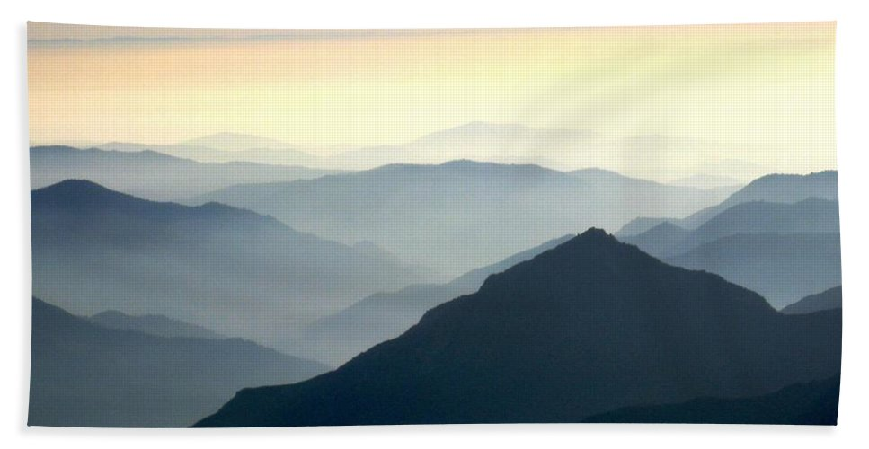 National Park Hand Towel featuring the photograph Sun-setting From Beetle Rock by Marta Robin Gaughen