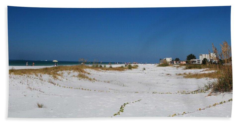Siesta Key Beach Bath Sheet featuring the photograph Siesta Key Beach by Gary Wonning