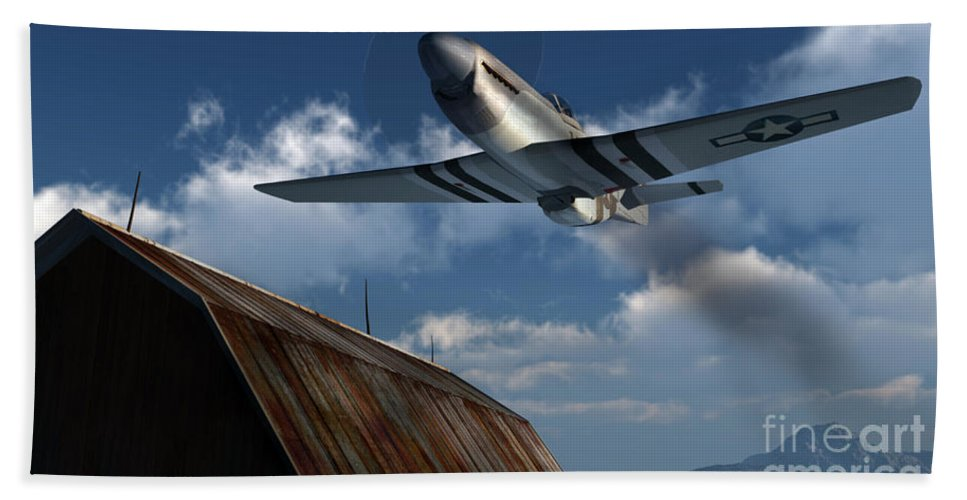 Aviation Bath Sheet featuring the digital art Sightseeing by Richard Rizzo