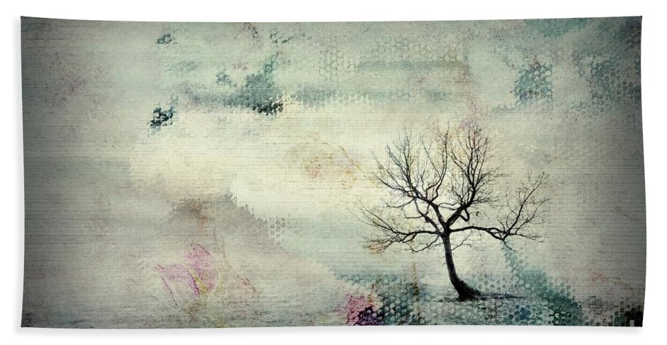 Tree Hand Towel featuring the digital art Silence To Chaos - 5502c3 by Variance Collections