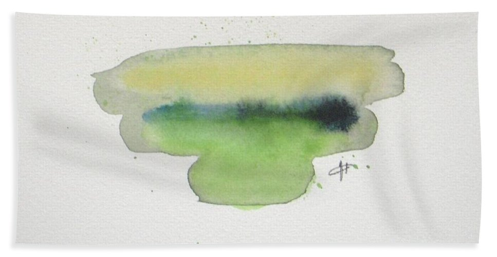 Watercolor Bath Sheet featuring the painting Silence by Vesna Antic