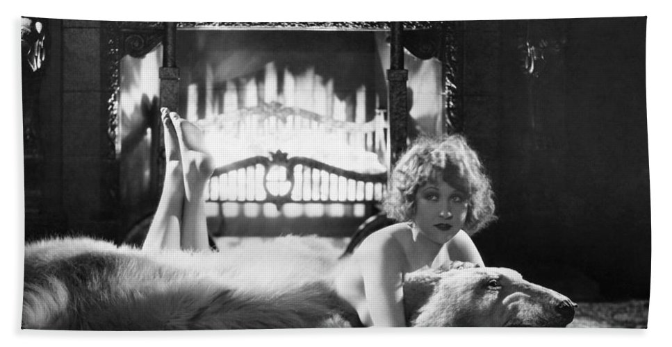 -women Single Figures- Hand Towel featuring the photograph Silent Film Still: Woman by Granger