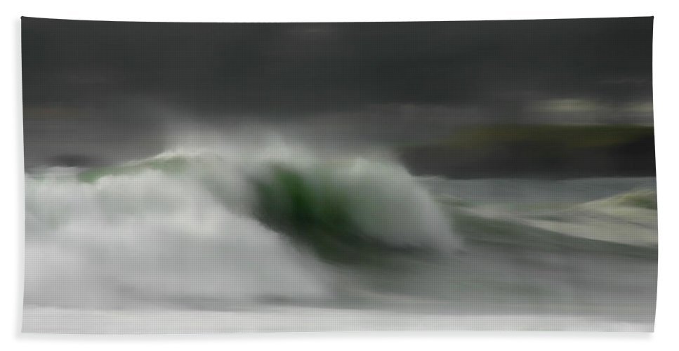 Ocean Hand Towel featuring the photograph Silent Rush by Donna Blackhall