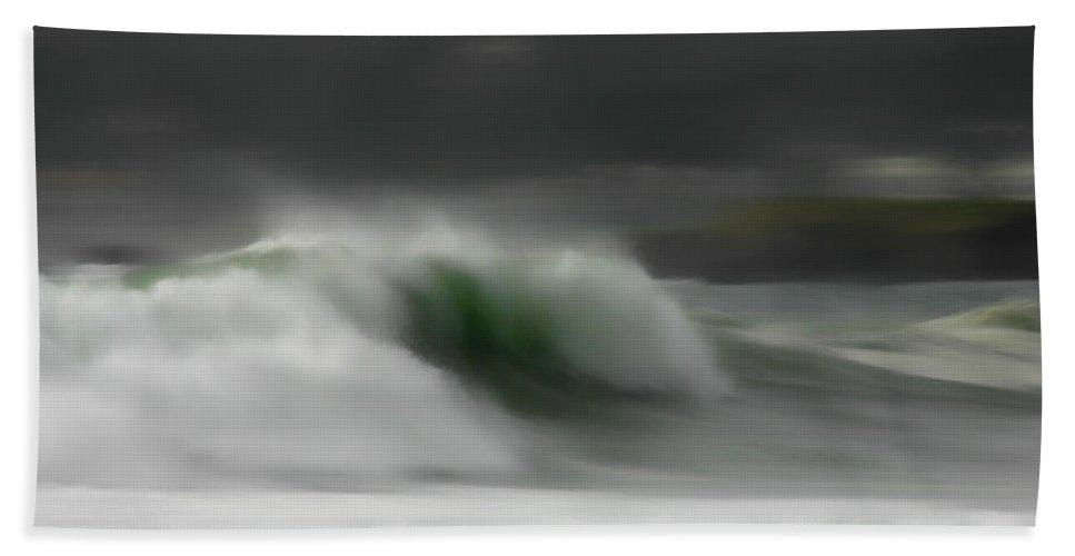 Ocean Bath Sheet featuring the photograph Silent Rush by Donna Blackhall