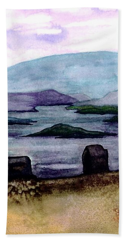 Original Painting Bath Sheet featuring the painting Silent Sentinels by Patricia Griffin Brett