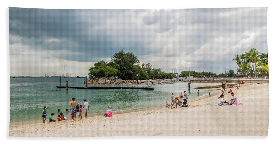 Siloso Bath Sheet featuring the photograph Siloso Beach by David Rolt