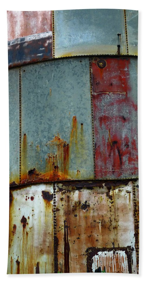 Skip Hunt Hand Towel featuring the photograph Silo Series 1 by Skip Hunt
