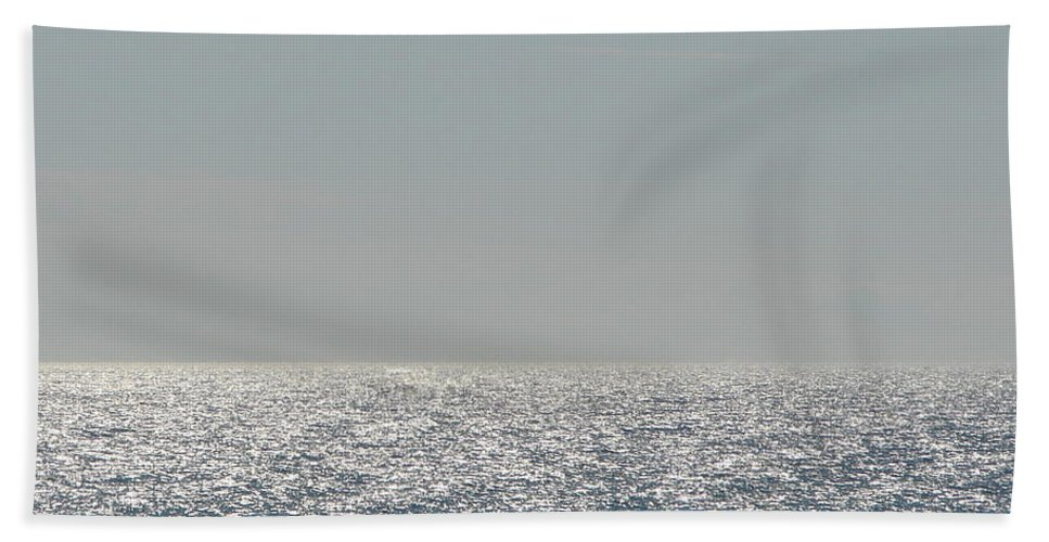 Blue Bath Sheet featuring the photograph Silver Light On Lake Michigan by Michelle Calkins