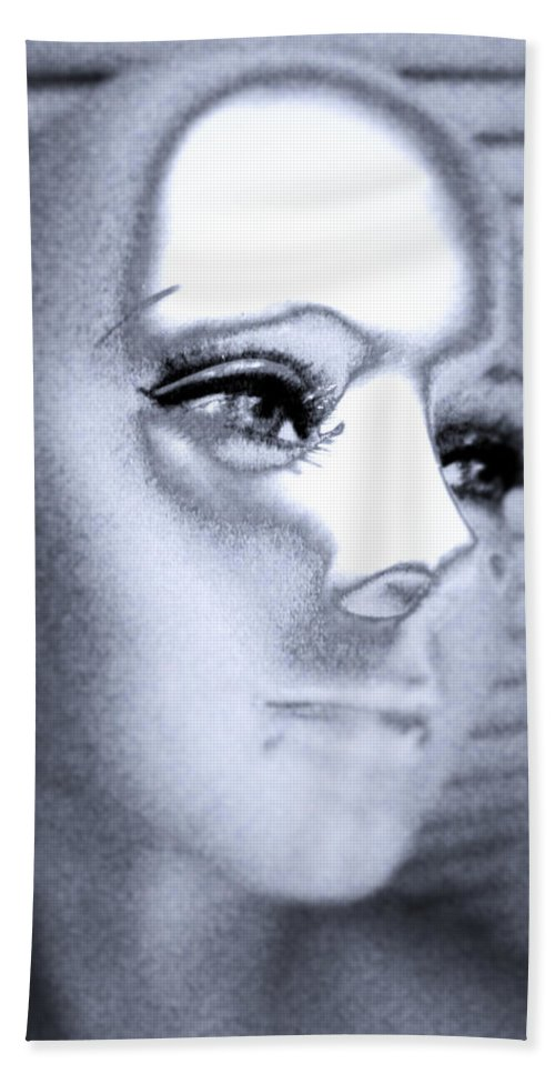 Silver Hand Towel featuring the digital art Silver Queen by Steven Scanlon