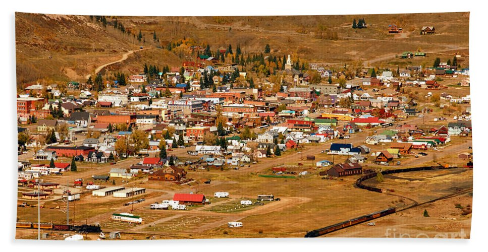 Silverton Colorado Hand Towel featuring the photograph Silverton by David Lee Thompson