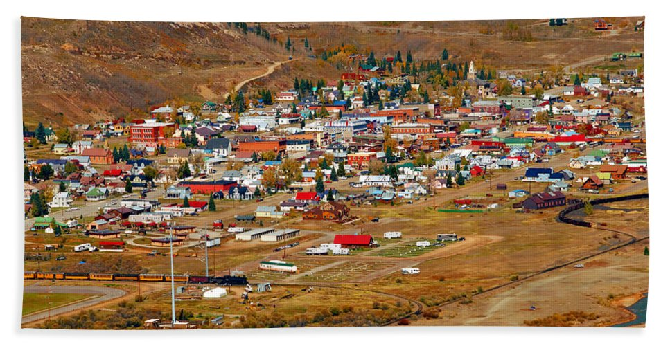 Silverton Colorado Hand Towel featuring the photograph Silverton Town Site by David Lee Thompson
