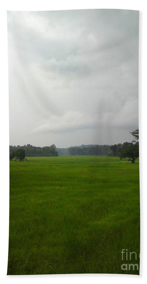 Photo Bath Sheet featuring the photograph Simple Green by Rushan Ruzaick