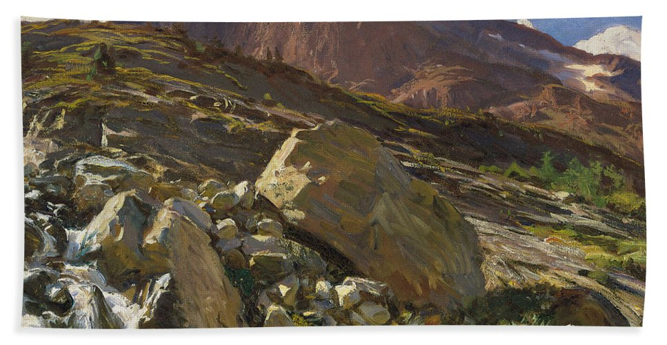 Sargent Hand Towel featuring the painting Simplon Pass by John Singer Sargent