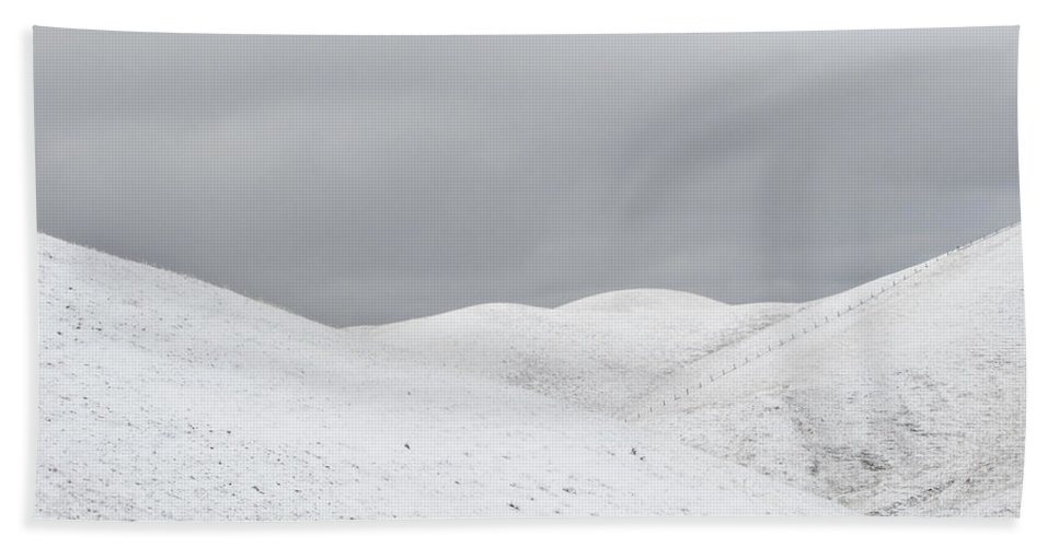 Snow Hand Towel featuring the photograph Simply Snow by Karen W Meyer