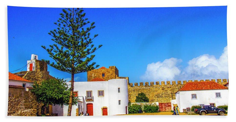 Sines Bath Sheet featuring the photograph Sines Castle by Roberta Bragan