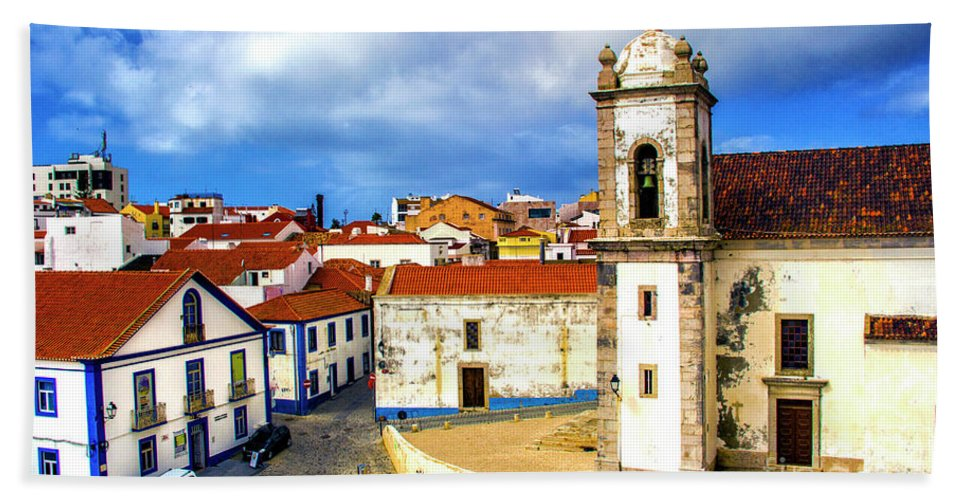 Sines Bath Sheet featuring the photograph Sines Portugal by Roberta Bragan
