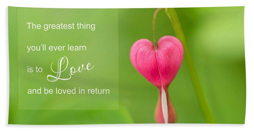 Bleeding Hearts Hand Towel featuring the photograph Single Bleeding Heart Flower In My Spring Garden by Carol Mellema