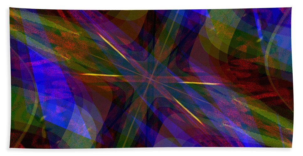Abstract Hand Towel featuring the digital art Sinves by Blind Ape Art