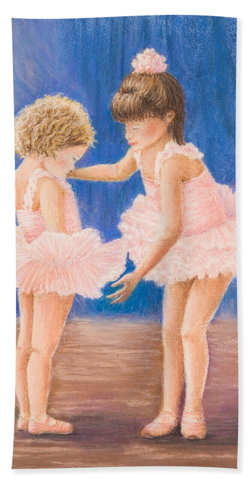 Ballet Hand Towel featuring the painting Sisters by Dee Carpenter