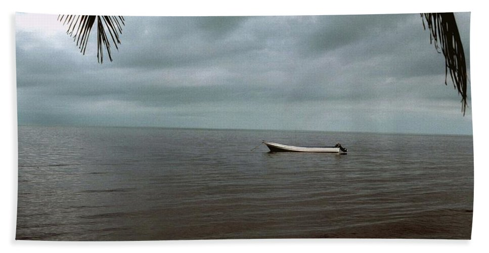 Belize Bath Sheet featuring the photograph Sittin' In The Bay by Gary Wonning