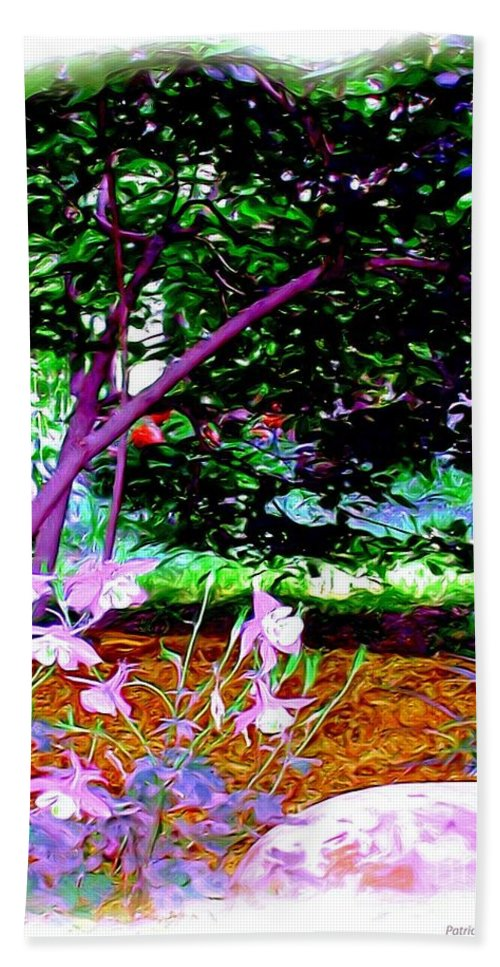 Fine Art Hand Towel featuring the painting Sitting In The Shade by Patricia Griffin Brett