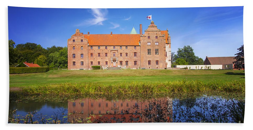 Park Bath Sheet featuring the photograph Skarhult Castle by Sophie McAulay