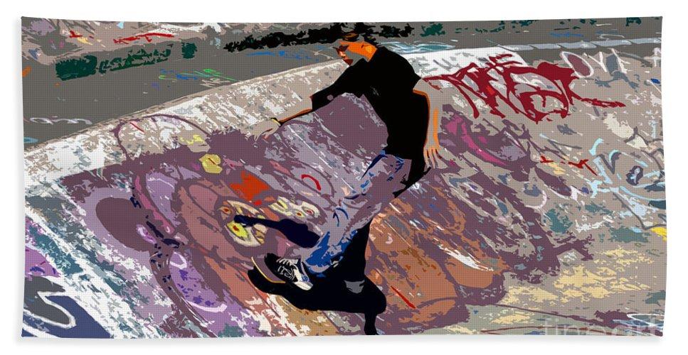 Skate Park Bath Sheet featuring the photograph Skate Park by David Lee Thompson